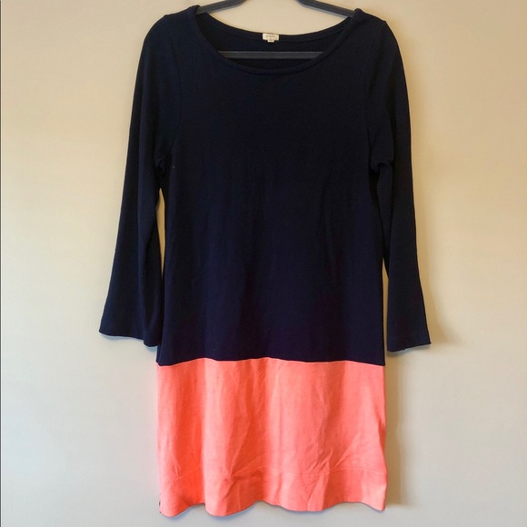 J. Crew Dresses & Skirts - J. Crew Navy/Coral Dress